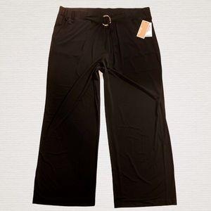 NWT Michael Kors pull-on palazzo pants 2X XXL